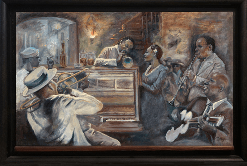Missing New Orleans original framed